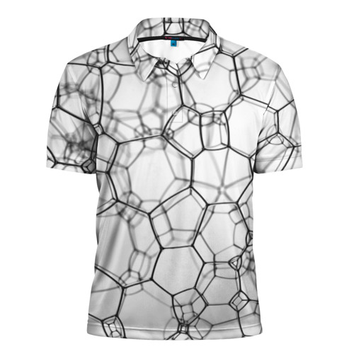 Мужская рубашка поло 3D  Фото 01, Пузыри