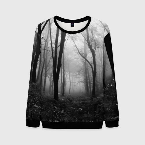 Мужской свитшот 3D Туман в лесу Фото 01