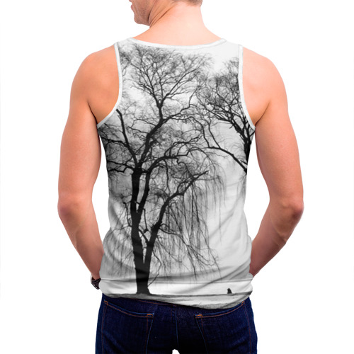 Мужская майка 3D  Фото 04, Деревья у реки