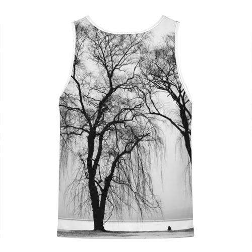 Мужская майка 3D  Фото 02, Деревья у реки