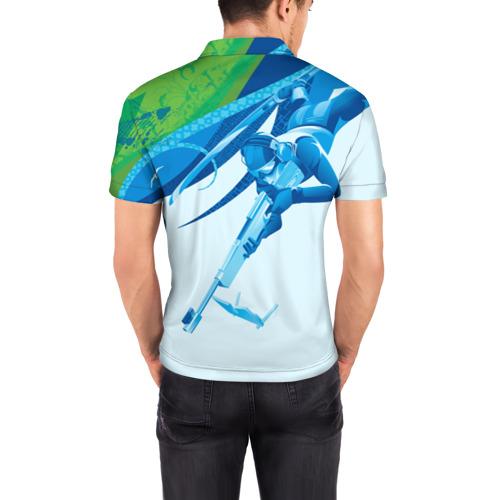 Мужская рубашка поло 3D  Фото 04, Биатлон Зимний вид спорта