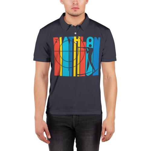 Мужская рубашка поло 3D  Фото 03, Радужный спорт