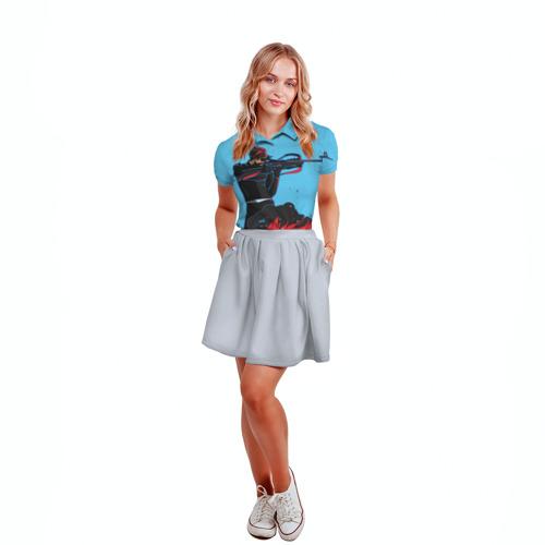 Женская рубашка поло 3D  Фото 04, biathlon world