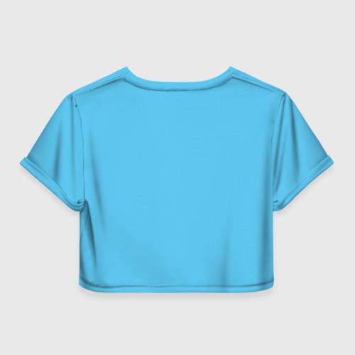 Женская футболка 3D укороченная  Фото 02, biathlon world