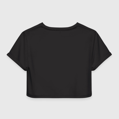 Женская футболка 3D укороченная  Фото 02, Биотлонист