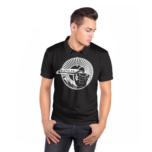 Мужская рубашка поло 3D  Фото 05, Биотлонист