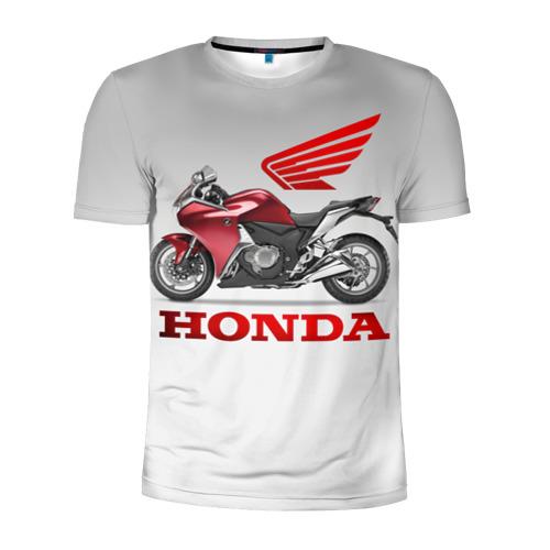 Мужская футболка 3D спортивная Honda 2