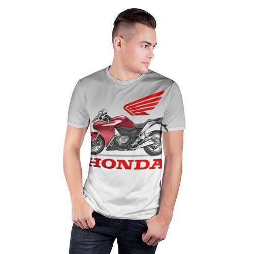Мужская футболка 3D спортивная Honda 2 Фото 01