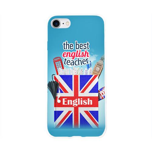 Чехол для Apple iPhone 8 силиконовый глянцевый  Фото 01, Учителю Английского языка