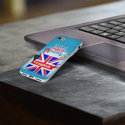 Чехол для Apple iPhone 8 силиконовый глянцевый  Фото 03, Учителю Английского языка
