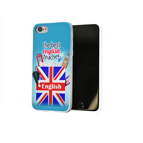 Чехол для Apple iPhone 8 силиконовый глянцевый  Фото 02, Учителю Английского языка