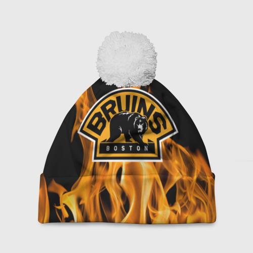 Шапка 3D c помпоном  Фото 01, Boston Bruins