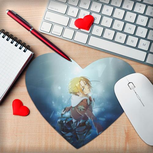 Коврик для мыши сердце  Фото 02, Snow