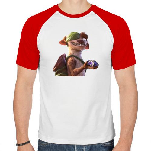 Мужская футболка реглан  Фото 01, чувак из ледникового периода