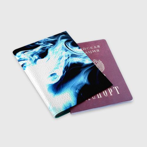 Обложка для паспорта матовая кожа  Фото 03, Дым
