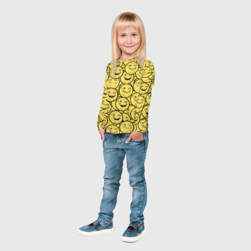 Детский лонгслив 3D  Фото 04, ПеКа-фейс
