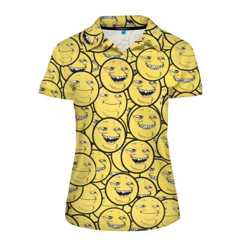 Женская рубашка поло 3D ПеКа-фейс
