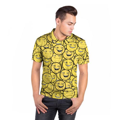 Мужская рубашка поло 3D  Фото 05, ПеКа-фейс