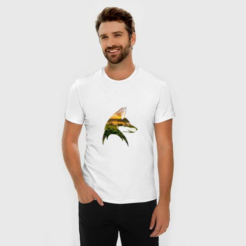 Мужская футболка премиум  Фото 03, лиса закат