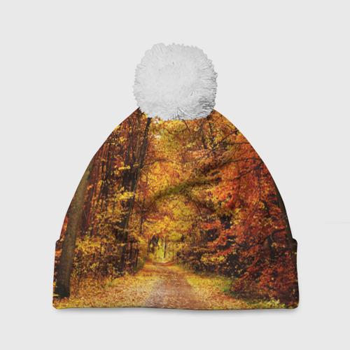 Шапка 3D c помпоном  Фото 01, Осень