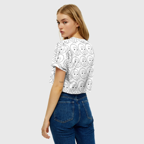 Женская футболка Crop-top 3D I Know That Feel Bro Фото 01