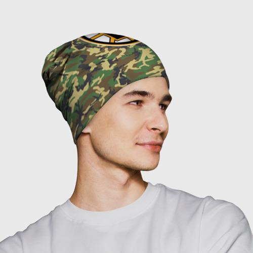 Шапка 3D  Фото 02, Bruins Camouflage