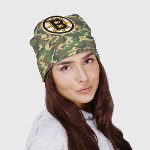 Шапка 3D  Фото 03, Bruins Camouflage