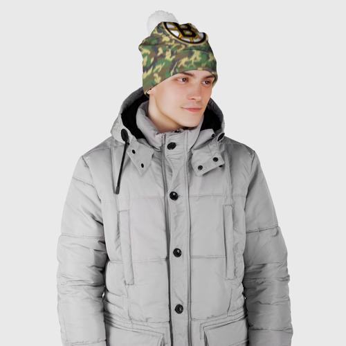 Шапка 3D c помпоном  Фото 02, Bruins Camouflage
