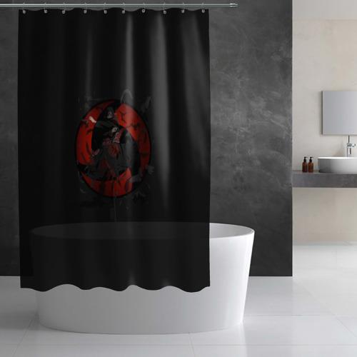 Штора 3D для ванной Itachi (Mangekyou Sharingan) Фото 01