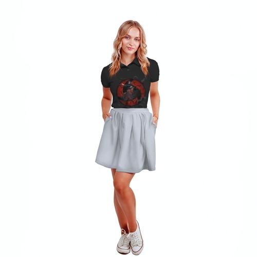 Женская рубашка поло 3D Itachi (Mangekyou Sharingan) Фото 01