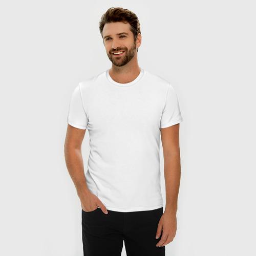 Мужская футболка премиум  Фото 03, Месси (белая)