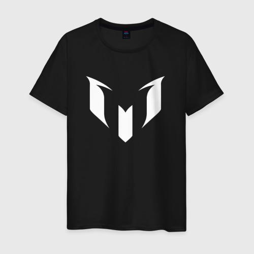 Мужская футболка хлопок Месси (белая)