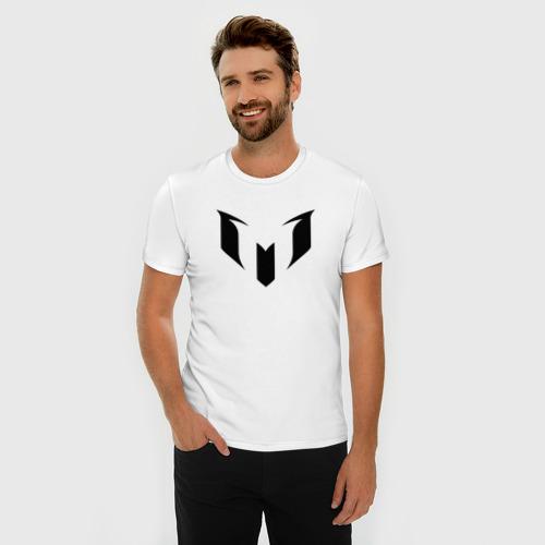 Мужская футболка премиум  Фото 03, Месси (черная)