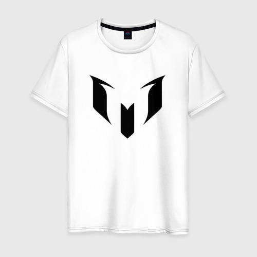 Мужская футболка хлопок Месси (черная)