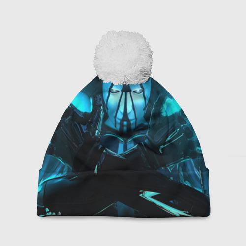 Шапка 3D c помпоном  Фото 01, Синяя энергия