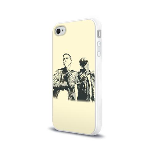 Чехол для Apple iPhone 4/4S силиконовый глянцевый  Фото 03, Эминем и 50 центов