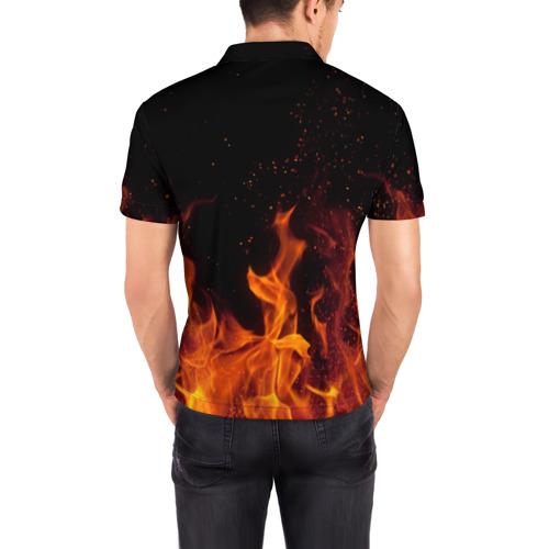 Мужская рубашка поло 3D  Фото 04, Arctic Monkeys fire
