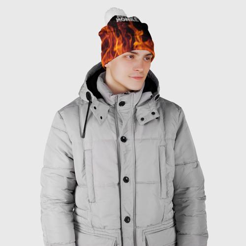 Шапка 3D c помпоном  Фото 02, Arctic Monkeys fire