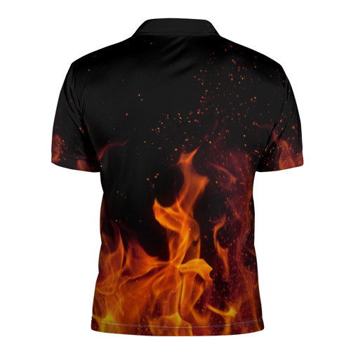Мужская рубашка поло 3D  Фото 02, Arctic Monkeys fire