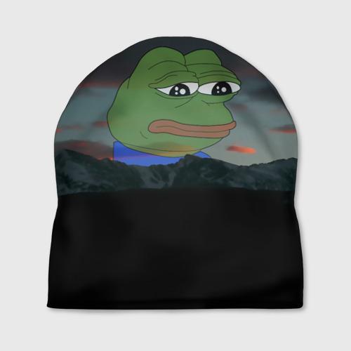 Шапка 3D Sad frog