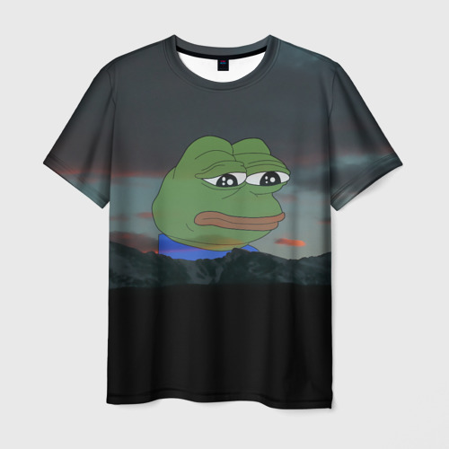 Мужская футболка 3D Sad frog