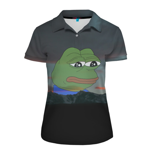 Женская рубашка поло 3D Sad frog