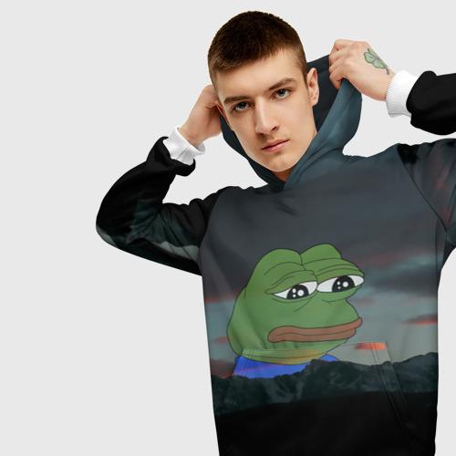 Мужская толстовка 3D Sad frog