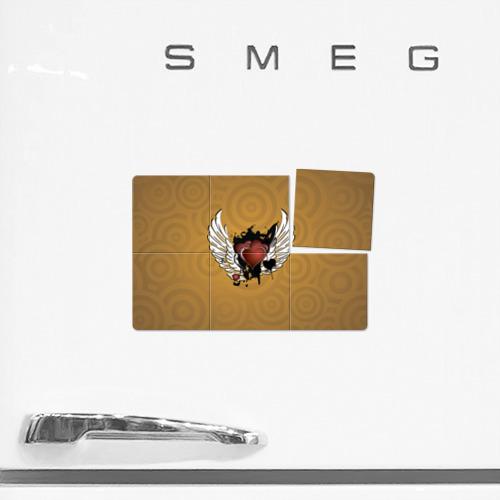Магнитный плакат 3Х2  Фото 02, Сердце с крыльями
