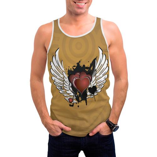 Мужская майка 3D  Фото 03, Сердце с крыльями