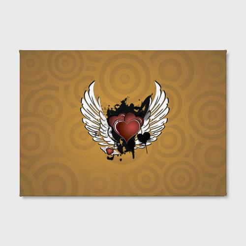 Холст прямоугольный  Фото 02, Сердце с крыльями