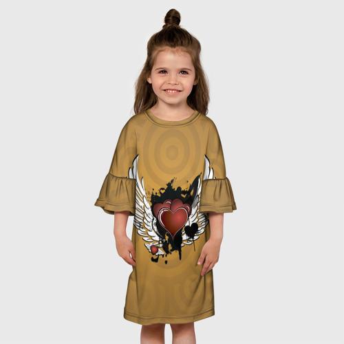 Детское платье 3D  Фото 01, Сердце с крыльями