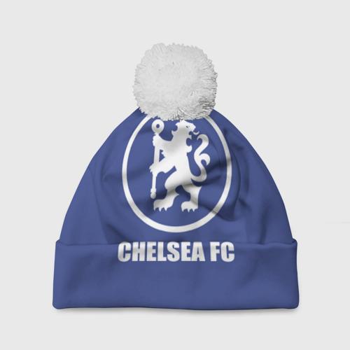 Шапка 3D c помпоном  Фото 01, Chelsea FC