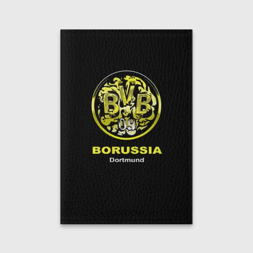Обложка для паспорта матовая кожа Borussia Dortmund