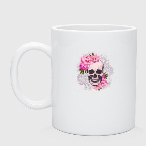 Череп с цветами